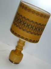 Hoffmeister 70er Lampada da tavolo 59 cm glasfuß Curry 70s table lamp glass