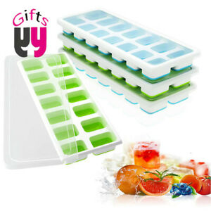 Ice Cube Tray, 3 Packs, Ice Cube Tray with Lid Ice Cube Mould, Flexible (3 pack)