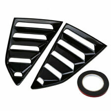 Set for 2016-2019 Chevrolet Camaro Rear Quarter Side Window Louver Glossy Black