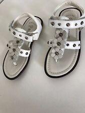 Romagnoli sandalias dedos de los pies nuevo sandalias talla 28 madreperla flores 22 cm longitud interior