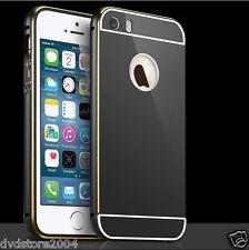 Custodia BUMPER METAL NERO Alluminio Metallo Cover Case Per Apple iPhone 6s