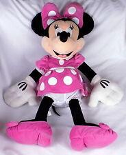 "Disney Minnie Mouse Plush Soft Toy Pink Dress Large 27"" Tall"