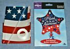 """27"""" AMERICAN FLAG & 19"""" PROUD TO BE STAR Old Glory Patriotic Mylar Foil Balloons"""