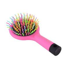 Rainbow Volume S Brush Hair Curl Magic Accessory Perm Wave Straight Comb MirrorT