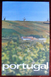 Original Poster Portugal Windmill Field Agriculture House