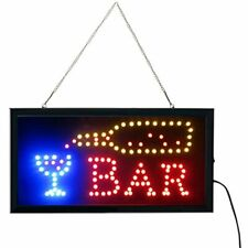 Led Bar Signs, Open Sign Neon Light Electric Display 19x10inch Two Modes &amp