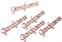 Wooden Grandparents Word Script for Family Tree Crafts 5 Pack MDF
