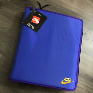NWT Vintage Nike Mead Zipper Binder Blue Purple Swoosh Trapper Keeper 1995
