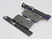 Axial SCX10 II Side Step Running Boards Guard SKID PLATES Left + Right  BLACK