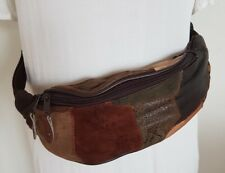 NEW Patchwork Leather & Suede Bum Bag~ Waist Bag~ One Size #14~ Hippy Festival