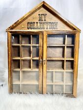 Vintage Wood Glass Shadowbox Display Case Doors My Collection Wall Hanging Curio