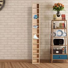 12-tier Media Storage Cabinet CD Shelf Tower Rack Stand Multimedia Organizer
