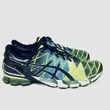 Asics Gel Kinsei 5 Mens US 14 Athletic Running Shoes Yellow Blue White