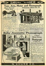 1924 PAPER AD Heineman Phonograph Motor # 77 Baby Jeanette New Blood Record