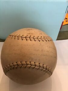 "Vintage Wilson Official Top Notch Softball 1949 Championship GameBall 16"" Signed"
