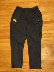 NWT Michigan Wolverines Jordan Men's Therma Team Sweatpants Size XL RARE