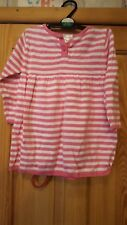baby girls pink and white stripped dress size 12/18 months