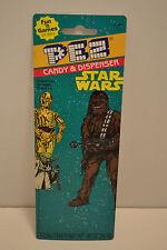 Great Looking 1997 PEZ Star Wars Card Chewbacca C-3PO WOW free ship MINT
