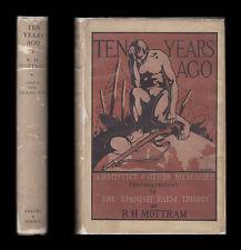 1928 Mottram TEN YEARS AGO Armistice Other Memories YPRES Western Front FLANDERS
