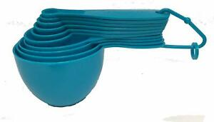 Set of 10 Plastic Measuring Spoons and Cups with Handles Cooking Baking