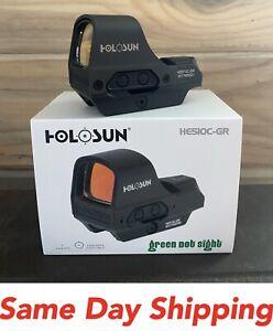 Holosun HE510C-GR Elite Green Multi-Reticle Reflex Sight Solar Power-QD Mount