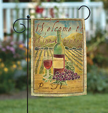 Toland Pinot Noir Welcome to Wine Country 12.5 x 18 Regional Garden Flag
