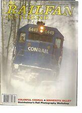 RAILFAN & RAILRAOD 01-89 COLORFUL CONRAIL / MINNESOTA VALLEY /STEINHEIMER'S RAIL