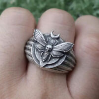 Men's Butterfly 925 Silver Animal Band Ring Women Wedding Party Jewelry