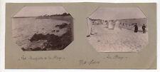 PHOTOS ANCIENNES - PORT LOUIS Rempart Plage Cabine de plage - Vers 1900 Vintage