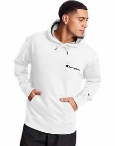 Champion Fleece Hoodie Sweatshirt Men Athletics Powerblend Script Logo MIdweight