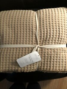 Inup Home Portugal Quilt Matelasse Blanket Coverlet Waffle Knit Queen Beige/ Tan