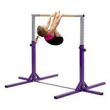Gymnastics Horizontal Bar Training Kids Expandable Gymnast Home Kip Bars Purple