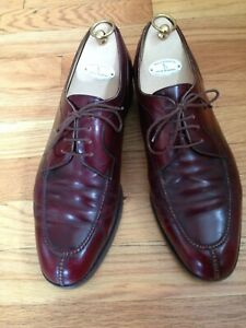 Gravati Men's Made in Italy Leather Lace UP Handmade Shoes US 9 Color Burgundy