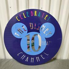 Rare The Disney Channel 10 Years Lamp Post Sign Display Prop Disneyland World