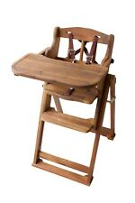 Hard wood  Baby High Low Chair - 100% Brand New