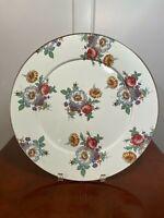 "MACKENZIE-CHILDS Large 16"" Round White Enamelware Floral Flower Platter Tray"