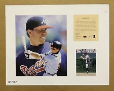 Chipper Jones Atlanta Braves 1997 MLB Baseball 11x14 Lithograph Print