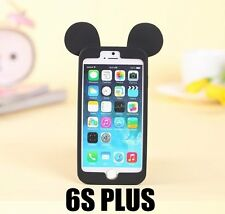 For iPhone 6+ / 6S+ Plus - SOFT RUBBER BUMPER CASE BLACK MICKEY MOUSE EARS