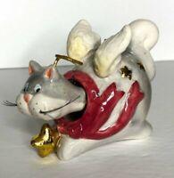 Bobblehead Christmas Ornament Cat Angel Ceramic Bobble Head Hanging Kitten