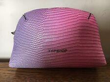 Pink Beauty Makeup Bag Clutch Purse Holiday Case Topshop Vgc Hobo Grab Weekend