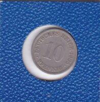 10 Pfennig 1905 G Deutsches Reich German Empire seltener