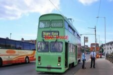 PHOTO  2009 BLACKPOOL TRAM CAR 762 AFTER UNLOADING AT FLEETWOOD IN RECENT YEARS