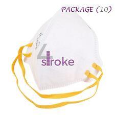 10 Máscara Facial Respirador FFP1 Lijado Pintura Aerosol Polvo Suran foldflat de seguridad
