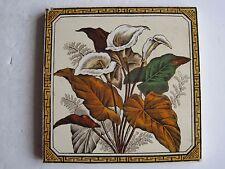Antico Vittoriano Muro Piastrelle-aro gigante GIGLI C1887-Arte Decorativa Piastrella Co. No.85