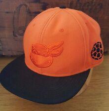 TMNT Teenage Mutant Ninja Turtles Michelangelo Orange Black Hat Snapback Cap