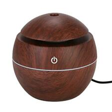 1xIntelligent LED USB Humidifier Wood Grain Diffuser Aroma Aromatherapy Purifier