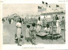 Publicité ancienne le marchand de briques devant une rotonde 1909 issue magazine