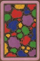 Playing Cards Single Card Old Vintage COLOURFUL ABSTRACT ART DESIGN Gold Detail