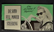 1953 DeSoto Power Steering Brochure Fire Dome Powermaster Excellent Original 53