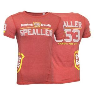 Chris Spealler Reebok 2014 CrossFit Games Red Athlete Replica Jersey T-Shirt
